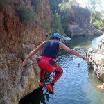 canyoning tijdens actieve 1-oudervakantie in Spanje