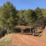 afdaling breed pad tijdens mountainbike vakantie trektocht