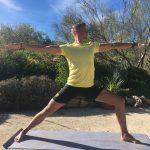 warriar tijdens yoga en actief vakantie in Spanje