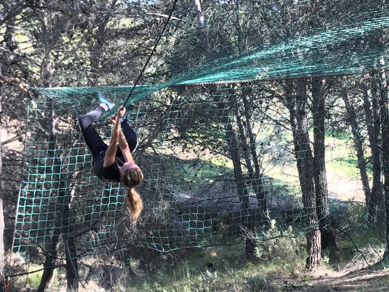 survivalrun in Spanje