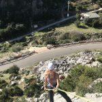 tijdens outdoor sportvakantie in Spanje