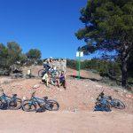 break puerto de la muyer during mountainbike holiday in Spain