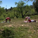 yoga tijdens yoga en actief vakantie in Spanje
