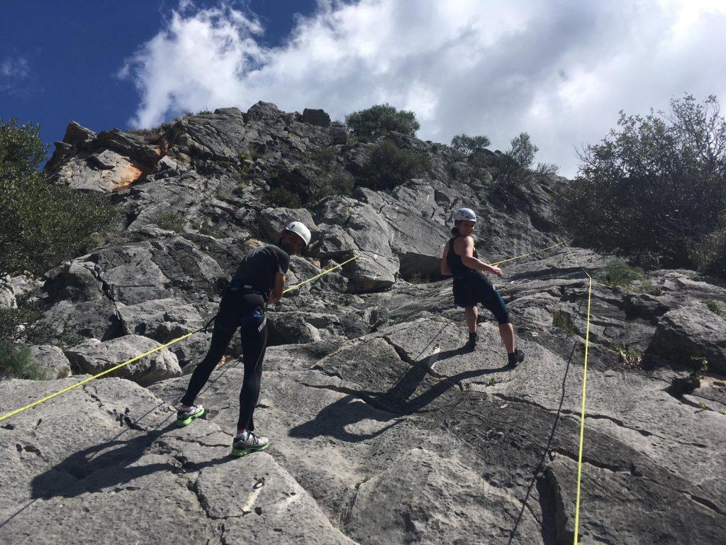 rots klimmen tijdens sportvakanties in Spanje