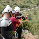 rock climbing at outdoor holiday in Spain