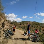 mountainbiken at outdoor holiday in Spain