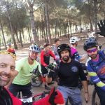 groepsfoto mtb tijdens sportvakanties in Spanje