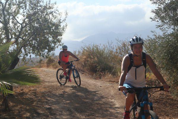 mountainbiken in Spanje