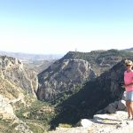 hike at sport holiday in Spain