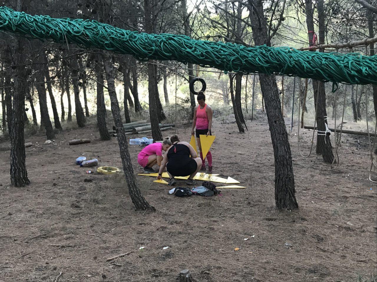 adventure run tijdens jongeren vakantie in Spanje
