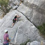 rock climbing at sport holiday in Spain
