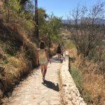 hike ronda tijdens yoga en hiken/trailrunnen in Spanje