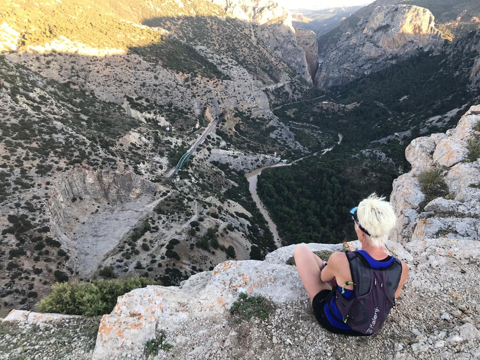 uitzicht El Chorro op Caminito del Rey