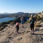 difficult hike at yoga and hiking trail running