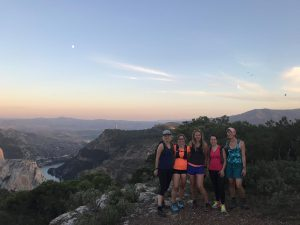 Yoga and hiking or trail running
