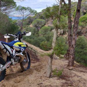 gevorderde route tijdens enduro motor vakantie Zuid Spanje