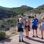 hiking at sport holiday in Spain