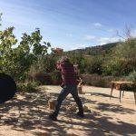 houthakken tijdens sportvakanties in Spanje