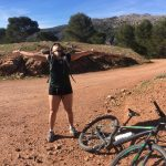 king of the world tijdens mountainbike vakantie