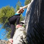rots klimmen tijdens sport vakanties in Spanje
