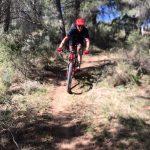 single track tijdens mountainbike vakantie in Zuid Spanje