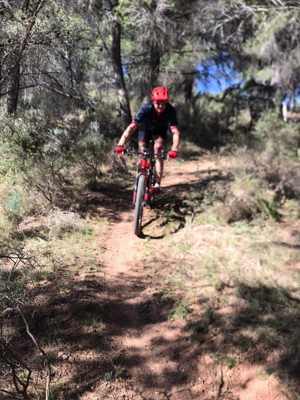 single track tijdens mountainbike vakantie