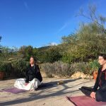 ochtend meditatie tijdens sportvakanties in Spanje