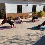 yoga tijdens mountainbike vakantie in Zuid Spanje