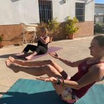 yoga at sports holiday in Spain