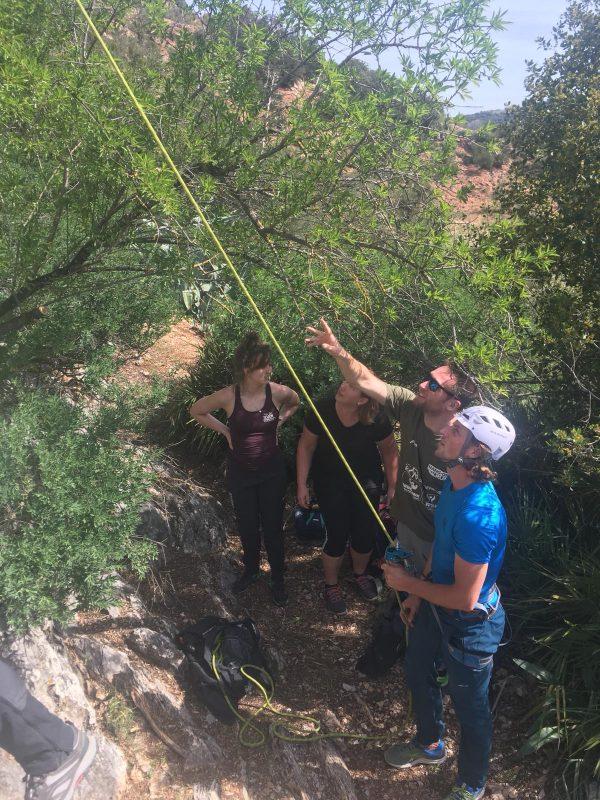 rots klimmen outdoor sportvakantie in Spanje
