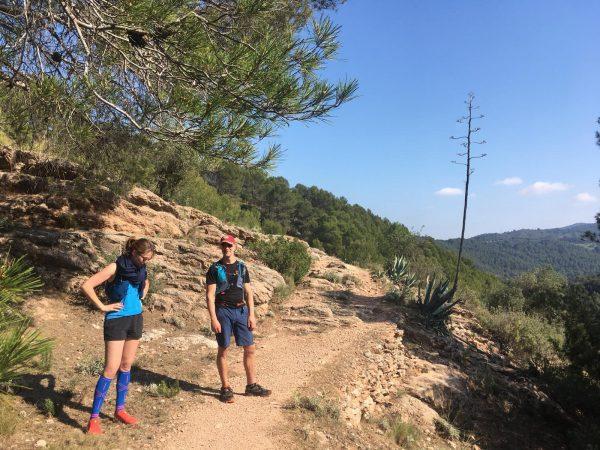even pauze tijdens trail van outdoor vakantie op maat