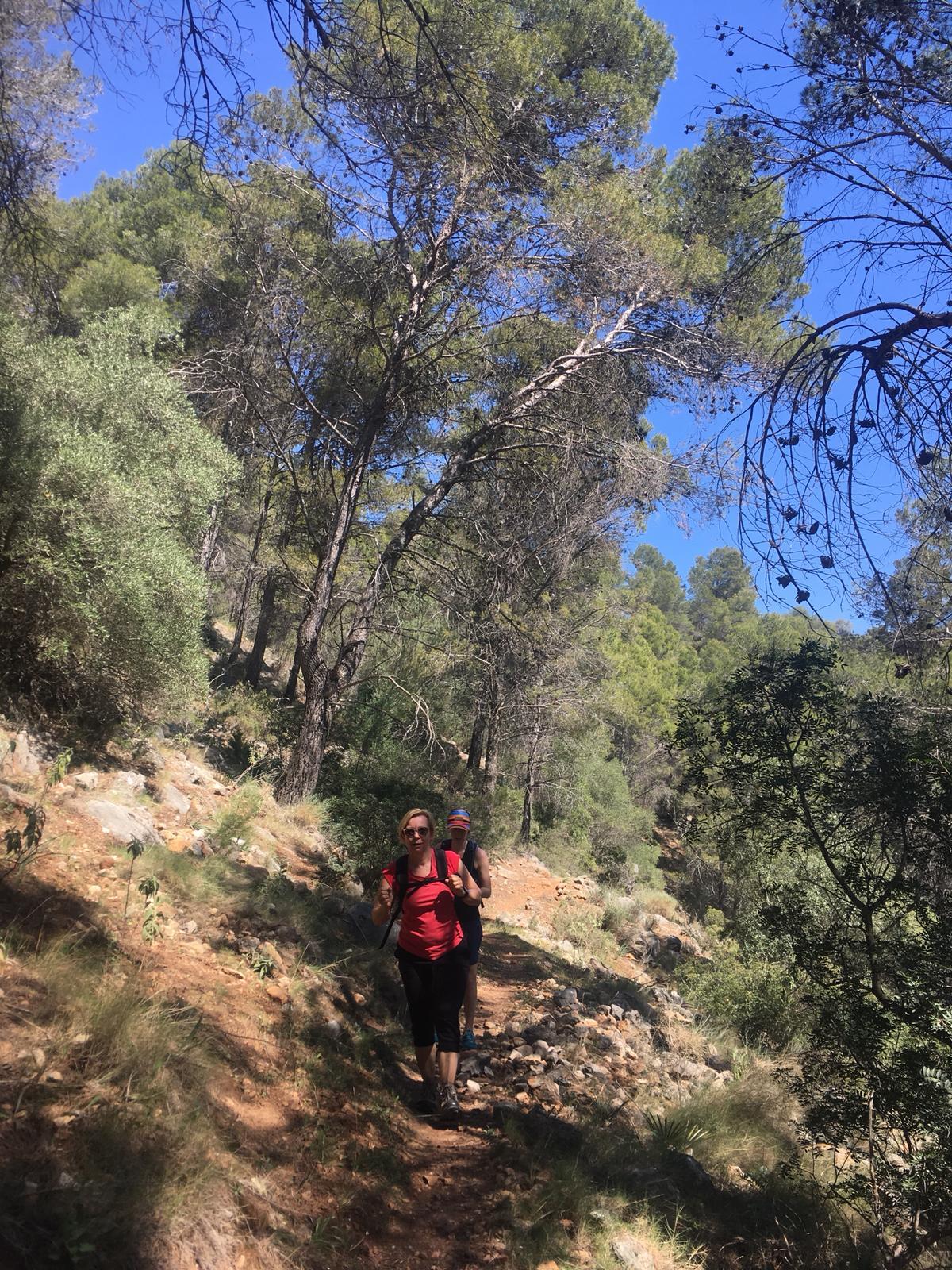 yoga en hiking of trailrunning tijdens de beweegvakantie voor beginnende bewegers
