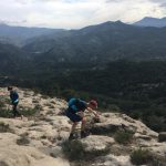 hike during sport holiday in Spain