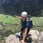 Fia Ferrata tijdens outdoorvakantie in Frankrijk