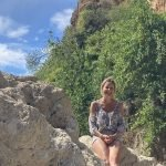 yoga and hiking at outdoor holiday in Spain
